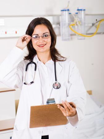 rounds: smart doctor Stock Photo
