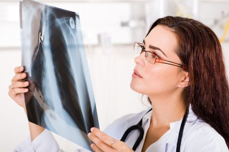 doctor with x-ray Stock Photo - 5122362