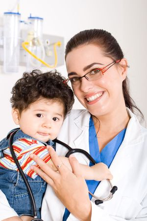 administer: doctor and child