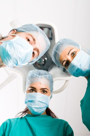 surgical cap: surgeons operating