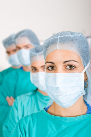 surgical cap: surgeons in isolation ward