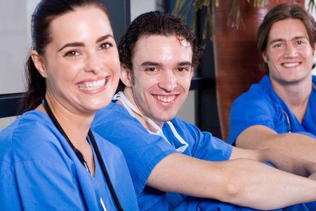 pacientes: equipo de m�dicos Foto de archivo