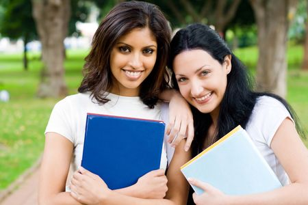 indian college student: good friends Stock Photo