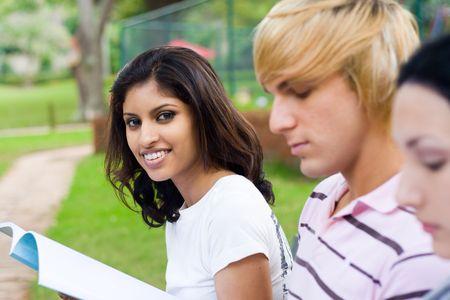 beautiful indian student
