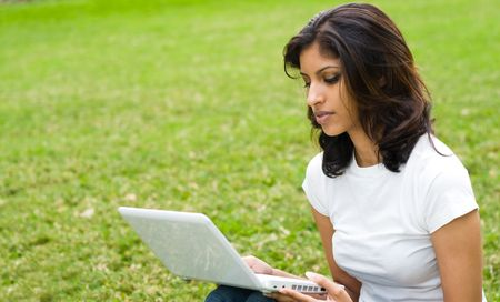 indian college student: studious girl Stock Photo