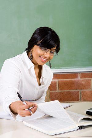 working teacher photo