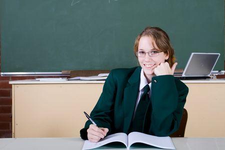 niña de secundaria Foto de archivo - 5126397