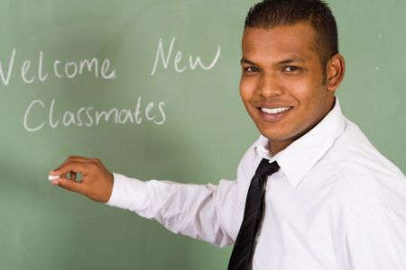 approachable: teacher Stock Photo