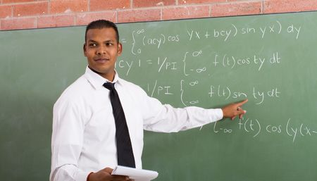 business attire teacher: indian maths teacher Stock Photo