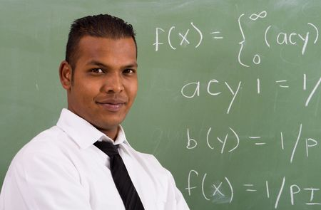 studious: handsome teacher