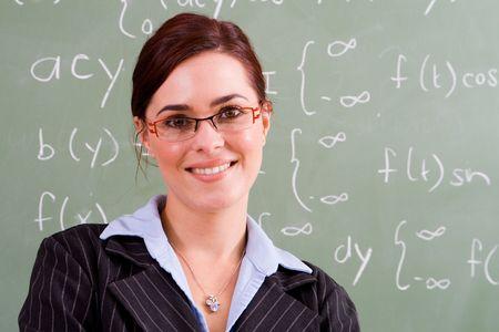docenten: gelukkig vrouwelijke leerkracht