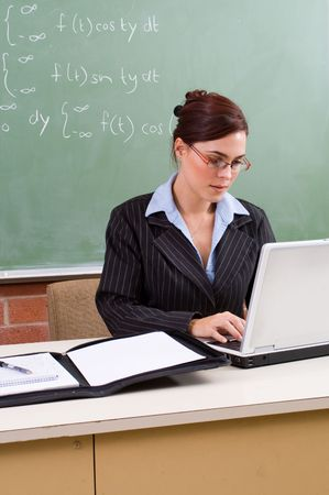 working hard: teacher working hard