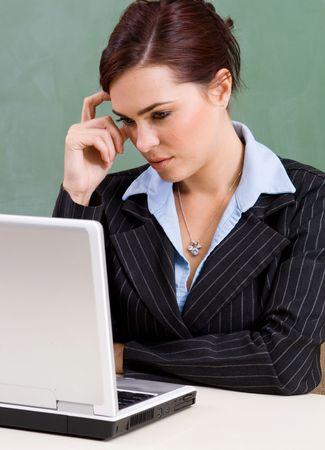 hardworking businesswoman photo