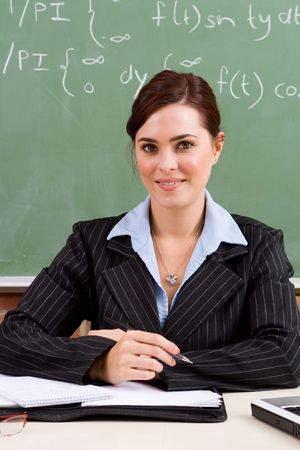 maths department: teacher Stock Photo