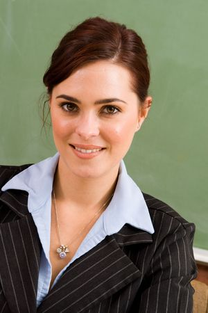 maths department: businesswoman Stock Photo