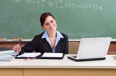 maths department: principal Stock Photo