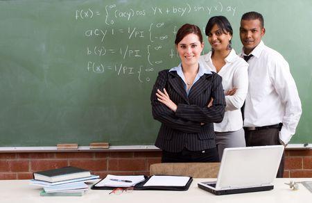 educadores: feliz profesores