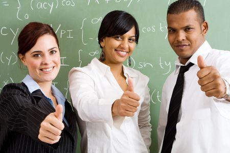 docenten: groep leraren Stockfoto