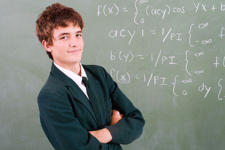 sums: confident teen  Stock Photo