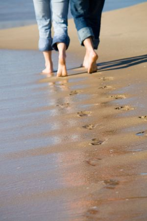 footprints in the sand Stock Photo - 5166858