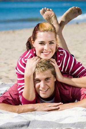 smiling couple photo