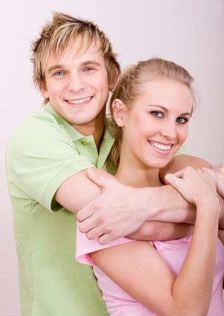 young happy couple photo