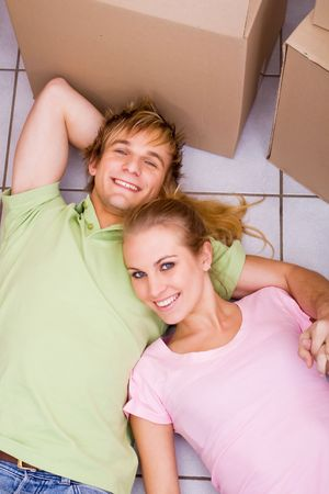couple in new apartment Stock Photo - 5605238