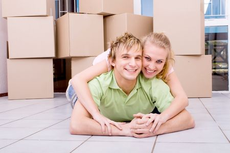 couple in new home Stock Photo - 5499893