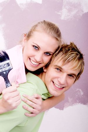 couple in love and having fun Stock Photo - 5499755