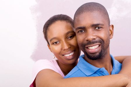 happy young african couple photo