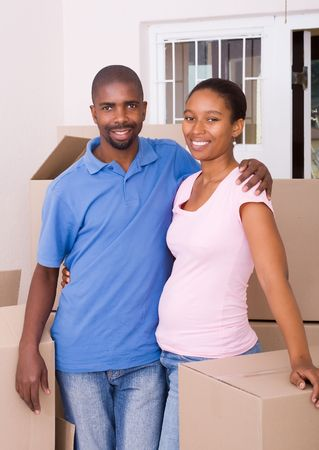 happy young african american couple Stock Photo - 5493283