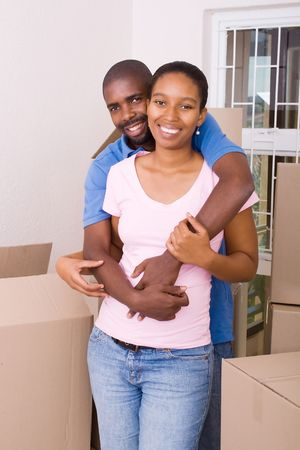 happy young african american couple photo