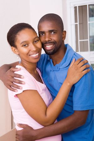 happy african american couple photo