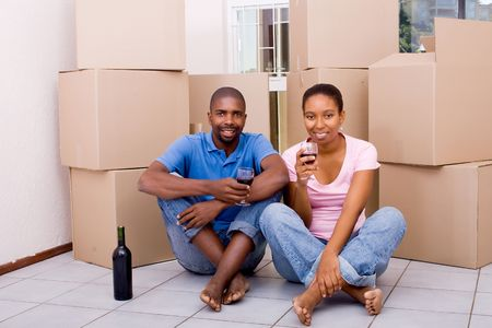 african couple in new home Stock Photo - 5493282