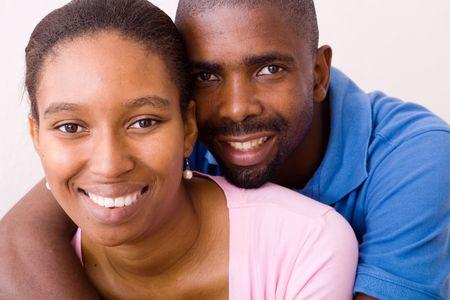 couple afro americain: happy couple afro-am�ricain