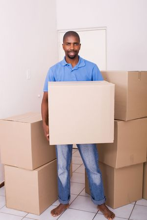 african american man moving photo
