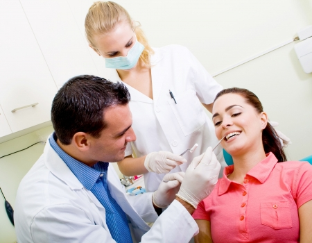 patient visiting dentist for dental checkup Stock Photo - 5715950