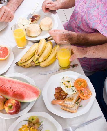 having breakfast photo
