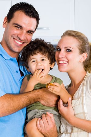 happy family closeup portrait photo