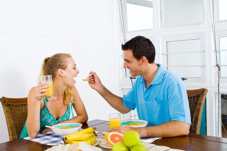 couple breakfast Stock Photo - 6500564