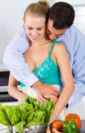 love in kitchen photo
