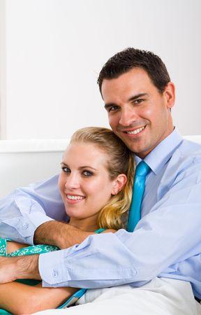 happy couple embracing photo