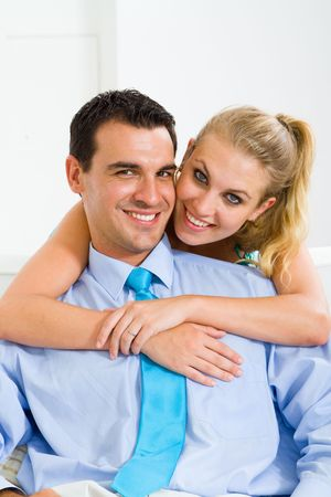 couple at home photo