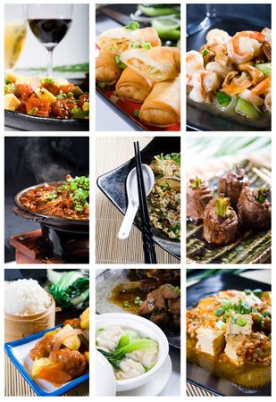 plat chinois: Collection de cuisine chinoise Banque d'images