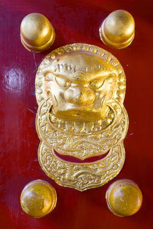 Traditional Chinese Door handle Stock Photo - 6581306