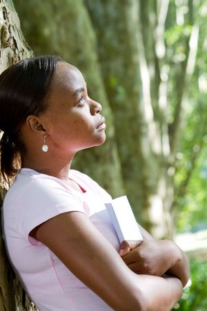 thoughtful young african woman Stock Photo - 6652020