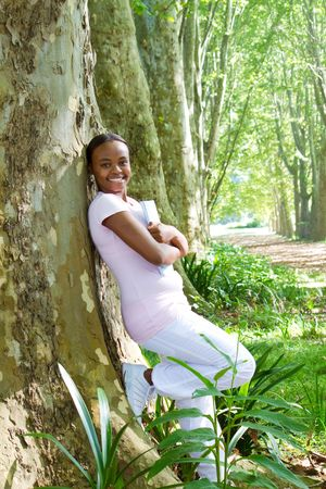 smiling young african girl Stock Photo - 6652288