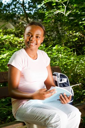 pretty young african student Stock Photo - 6652187