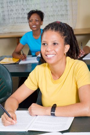 hardworking african american students Stock Photo - 6652029