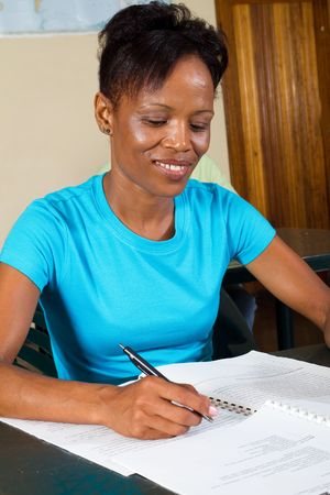 adult african student studying Stock Photo - 6652163